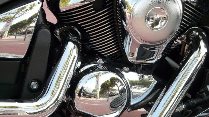 Detail Motorrad Chrom