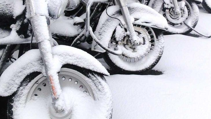 Harleys im Schnee