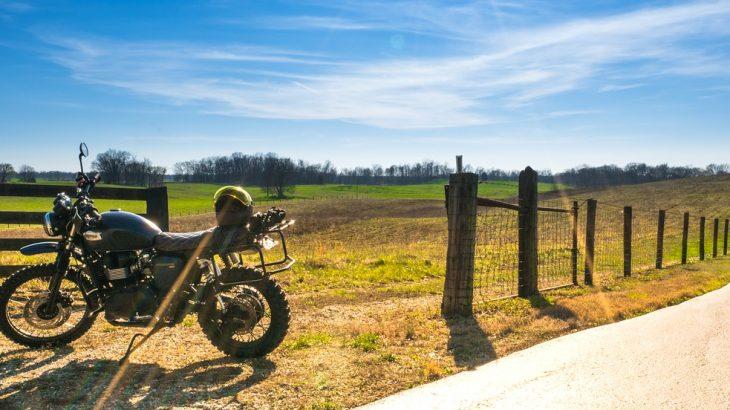 Pause bei einer Motorradtour