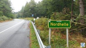 Schild Nordhelle; Sperrung