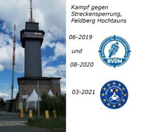 Kampf um freie Fahrt für Motorräder rund um den Feldberg/ Hochtaunuskreis