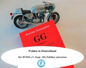 Bundestagswahl 2021:  Entscheidungshilfe für Motorradfahrer