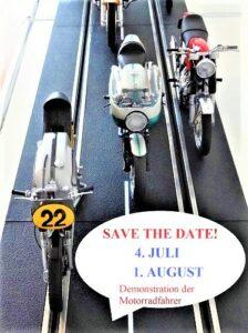 Save The Date – 04. Juli und 1. August 2021