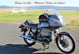 Fliegen ist schön – Motorradfahren ist schöner